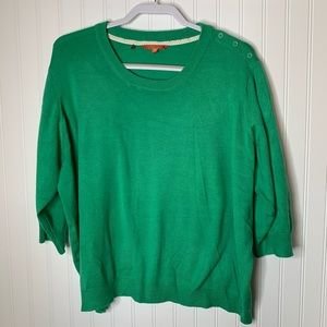 Modcloth green short sleeve sweater size 3X